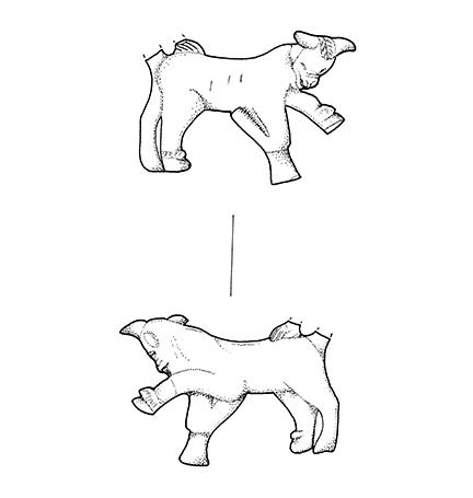 R5 2 231.C-13-385. Bronze bull drawing